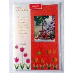 Carte postale neuve avec enveloppe remerciement merci anniversaire mariage (lot 11)