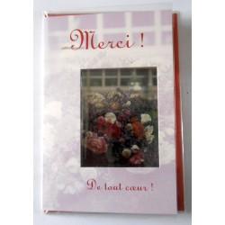 Carte postale neuve avec enveloppe remerciement merci anniversaire mariage (lot 12.04)