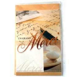 Carte postale neuve avec enveloppe remerciement merci anniversaire mariage (lot 13.02)