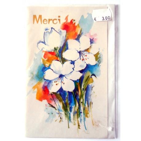 Carte postale neuve avec enveloppe remerciement merci anniversaire mariage (lot 13.03)