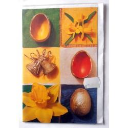 Carte postale double avec enveloppe DIVERS fêtes joyeuses pâques neuve