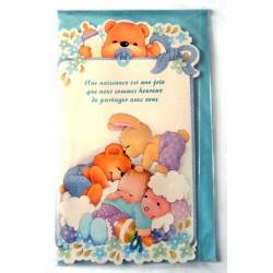 Carte postale neuve avec enveloppe naissance baptême félicitation (lot 10.02)