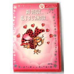 Carte postale neuve avec enveloppe coccinelle Gotlib naissance baptême félicitation (lot 01.01)