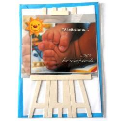 Carte postale neuve avec enveloppe naissance baptême félicitation (lot 10.07)
