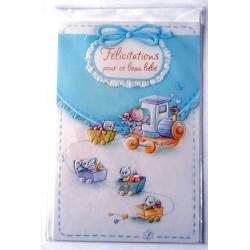 Carte postale neuve avec enveloppe naissance baptême félicitation (lot 11.01)