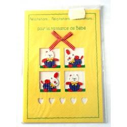 Carte postale neuve avec enveloppe naissance baptême félicitation (lot 11.05)