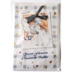 Carte postale neuve avec enveloppe naissance baptême félicitation (lot 11.08)