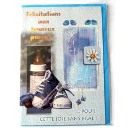 Carte postale neuve avec enveloppe naissance baptême félicitation (lot 11.17)