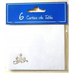 Lot de 6 cartes de table marque places fête anniversaire,mariage,baptême ,retraite noël neuve