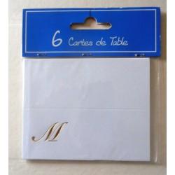 Lot de 6 cartes de table marque places fête mariage,anniversaire de mariage neuve
