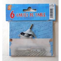 Lot de 6 CARTES DE TABLE fête anniversaire,mariage,baptême noël ( lot 18.02)