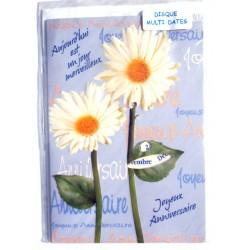 Carte postale neuve avec enveloppe joyeux anniversaire multidates ( lot 76.09)
