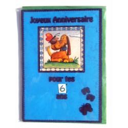 Carte postale neuve avec enveloppe joyeux anniversaire enfant multidates ( lot 76.16)