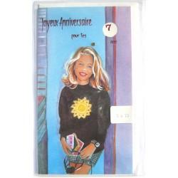 Carte postale neuve avec enveloppe joyeux anniversaire enfant multi ages ( lot 78.02)