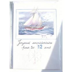 Carte postale neuve avec enveloppe joyeux anniversaire enfant multi ages ( lot 78.09)