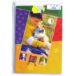 Carte postale neuve avec enveloppe joyeux anniversaire enfant 1 ans ( lot 78.15)
