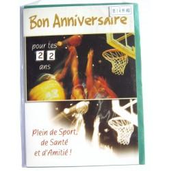 Carte postale neuve avec enveloppe joyeux anniversaire multi ages ( lot 79.05)