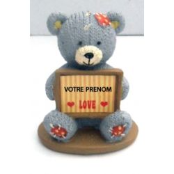 Ourson tendresse love bear personnalisé au prénom de votre choix cadeau