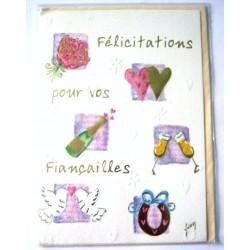 Carte postale neuve avec enveloppe félicitation FIANÇAILLES ( lot 37.06)