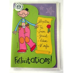 Carte postale neuve avec enveloppe félicitation ( lot 02)