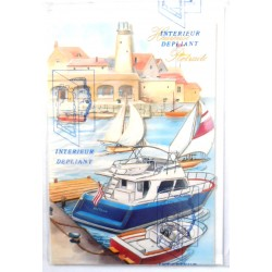 Carte postale neuve avec enveloppe retraite départ dépliante ( lot 11.01)