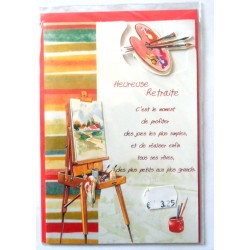 Carte postale neuve avec enveloppe retraite départ ( lot 23.01)