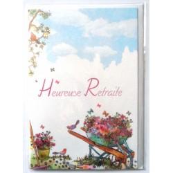 Carte postale neuve avec enveloppe retraite départ ( lot 23.02)