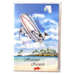 Carte postale neuve avec enveloppe retraite départ ( lot 24.01)