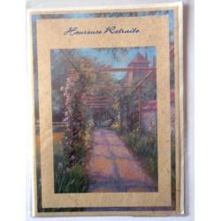 Carte postale neuve avec enveloppe retraite départ ( lot 24.06)