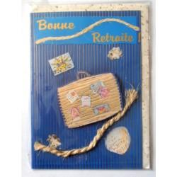 Carte postale neuve avec enveloppe retraite départ ( lot 25.04)