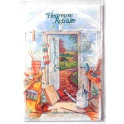 Carte postale neuve avec enveloppe retraite départ ( lot 25.05)