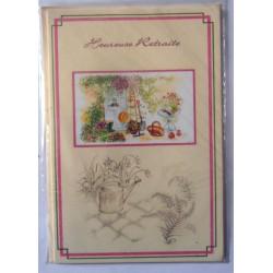 Carte postale neuve avec enveloppe retraite départ ( lot 25.06)