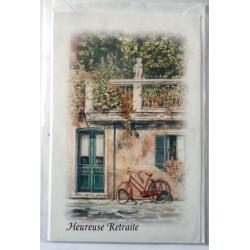 Carte postale neuve avec enveloppe retraite départ ( lot 25.07)