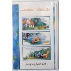 Carte postale neuve avec enveloppe retraite départ ( lot 25.08)