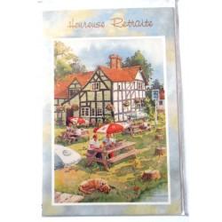 Carte postale neuve avec enveloppe retraite départ ( lot 26.01)