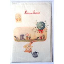 Carte postale neuve avec enveloppe retraite départ ( lot 26.02)