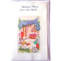 Carte postale neuve avec enveloppe retraite départ ( lot 26.05)