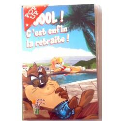 Carte postale neuve avec enveloppe retraite départ POP UP DÉPLIANT ( lot 26.07)