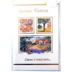 Carte postale neuve avec enveloppe retraite départ ( lot 27.02 )
