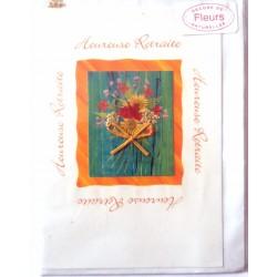 Carte postale neuve avec enveloppe retraite départ ( lot 27.03 )