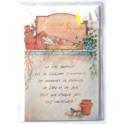 Carte postale neuve avec enveloppe retraite départ ( lot 27.04 )