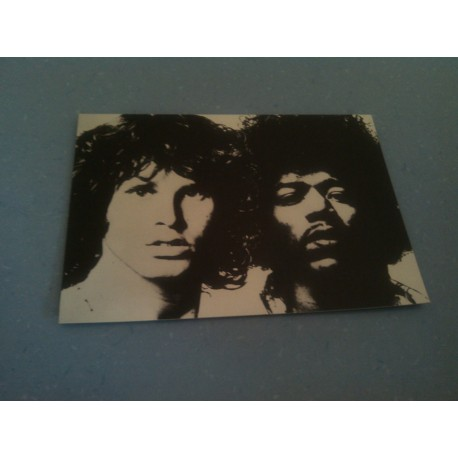 Carte Postale de Star - People - Jim Morrison et Jimi Hendrix