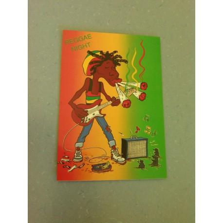 Carte Postale Humour- Rasta - Reggae Night