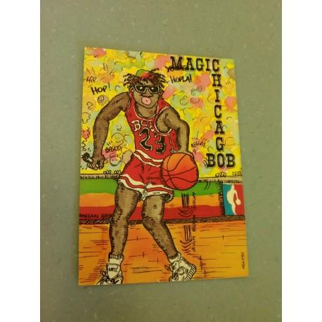 Carte Postale Humour - Magic Chicago Bob