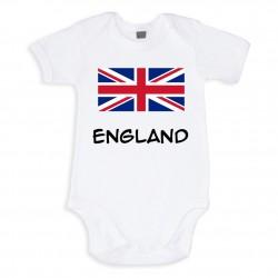 TRANSFERT TEXTILE VETEMENT BEBE BODY T SHIRT ENFANT SUPPORTER ANGLETERRE V30 NEUF