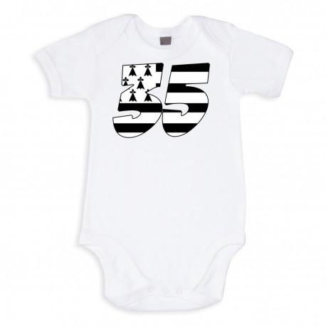 TRANSFERT TEXTILE VETEMENT BEBE BODY T SHIRT ENFANT BRETAGNE 35 NEUF