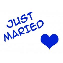 PLAQUE AIMANTEE MARIAGE - VOITURE - PERSONNALISABLE - DECORATION V2