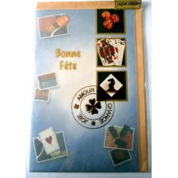 Carte postale neuve avec enveloppe bonne fête (14.05)