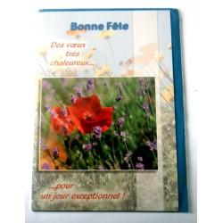 Carte postale neuve avec enveloppe bonne fête (lot 15.01)