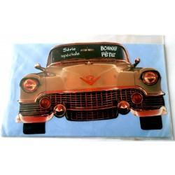 Carte postale neuve avec enveloppe bonne fête voiture collection (15.03)